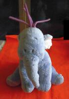 DISNEY peluche plush LUMPY elephant Winnie efelant Nicotoy gris bleu rose violet