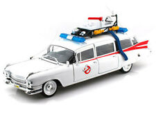 1/18 Hot wheels 1959 Cadillac Ambulance ECTO-1 Ghostbusters 1 Movie White BCJ75