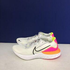 Nike Women's Renew Run Running Shoe Platinum Tint Pink Orange CK6360-005 SZ 9.5