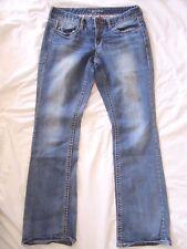 MAURICES Women's Size 5/6 X 31.5 Thick Stitch DIstress Wash Stretch Denim Jeans