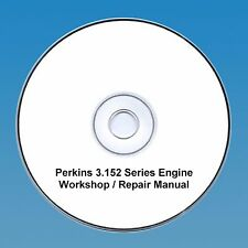 Perkins 3.152 Series Motores Taller reparación Manual CD Pdf