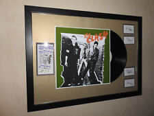 "The Clash Framed 12"" LP✅Tickets & Band Autographs LIMITED EDITION ✅Memorabilia"