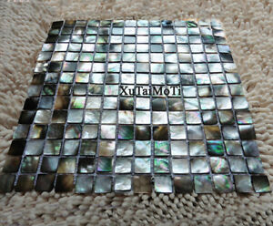 Black Lip Shell Mosaic Tile Mother of Pearl Kitchen Shower Decoravtive Tiles