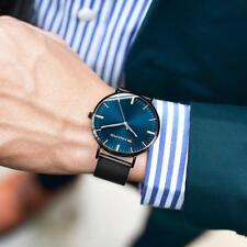 PANARS Business Men Big Thin Dial Watch Stainless Steel Analog Quartz Wristwatch