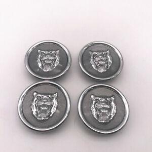 Car Wheel Center Cap Badge Wheel Motif 1988-2012 Gray Silver For Jaguar