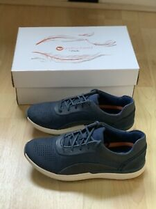 Clarks Unstructured UN CRUISE LACE Navy Shoes Trainers UK 4 BRAND NEW WITH BOX