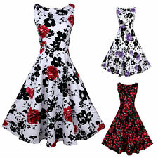 Party Floral Sleeveless Cocktail Dresses for Women