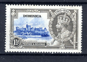 Dominica  11/2d  Royal Silver Jubilee  item 1935 KGV MH [P0321]