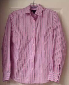 NWT, Women's Lands' End pinpoint Oxford shirt, button down, size 4, no iron,pink