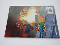 Super Mario Nintendo 64 N64 Manual Instruction Booklet OEM 1ST NUS-NSME-USA GOOD