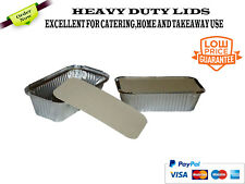 100x ALUMINIUM FOIL FOOD CONTAINERS  LIDS NO6a BEST FOR HOME AND TAKEAWAY USE