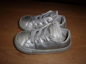 Converse All Star CT Leather Metallic Ox toddlers pumps size 6