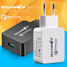 BlitzWolf EU Plug Universal QC3.0 18W USB Quick Charger Adapter For  NEW
