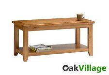 Country Oak Large Coffee Table / Solid Wood Side Table / Living Room Wessex