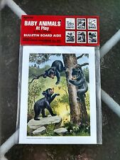 Hayes School Publishing Co 8 full color prints 1988 Baby Animals at Play sealeD