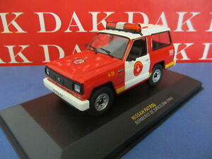 Die cast 1/43 Modellino Auto Nissan Patrol Pompieri Barcellona 1994