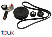 FORD MONDEO JAGUAR X TYPE 2.0 2.2 FAN BELT CRANKSHAFT PULLEY TENSIONER KIT