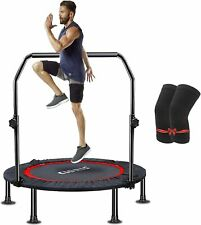 """Fitness Trampoline 40"""" Foldable Max Load 400lbs Foam Handle Indoor Outdoor Home"""