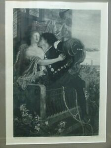 Ford Madox Brown Romeo and Juliet Photogravure Goupil & Co D. Appleton & Co