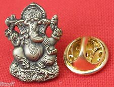 Ganesha Lapel Hat Tie Pin Badge Ganesa Ganapati Ganesh Pillaiyar Hindu Brooch