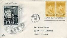 FDC / FIRST DAY COVER / WASHINGTON / GOLD STAR MOTHERS / VICHY 1948