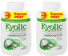 KYOLIC AGED GARLIC ORGANIC GREAT FOR THE IMMUNE SYSTEM  600  CAPSULES 2 Bottles