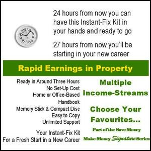 Work From Home. Business Opportunity in Property. Big Profits and Fee Income