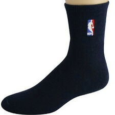 NEW! NBA Logoman Black Medium Socks Mens Fits Size 5-10 Player Elite Quarter 203
