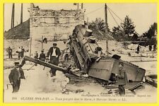 cpa MARY sur MARNE TRAIN ACCIDENT Catastrophe Férroviaire 1914 RAIL DISASTER