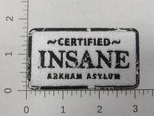 "3"" x 1.75"" Batman Joker Certified Insane Arkham Asylum Embroidered Iron-On Patch"