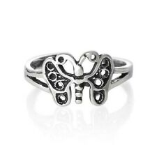 925 Adjustable Jewelry Gift 1.3 grams Butterfly Toe Ring Solid Sterling Silver
