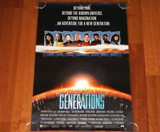 ORIGINAL MOVIE POSTER STAR TREK GENERATIONS 1994 UNFOLDED INTL SS ADVANC