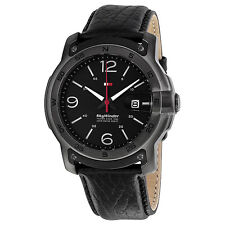 TOMMY HILFIGER SKYWINDER DATE BLACK DIAL LEATHER STRAP MEN'S WATCH 1790896 NEW