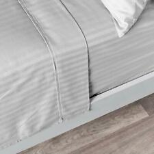 Australian Bedding Items & All Sizes Egyptian Cotton 1000 TC Light Grey Stripe