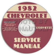 1982 Corvette Shop Manual CD Repair Service Books on CD-ROM Chevrolet Chevy