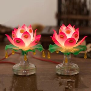 Buddhism Holy Lotus Lamp Buddhist Ceremony Worship Buddha Lamp Temple Decoration
