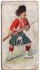 Gordon Family Clan Scotland History Celtic Tartan 100+ Y/O Trade Ad Card