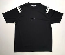 Vintage Nike Jersey T-shirt Top Embroidered Center Swoosh Men's Xl Black