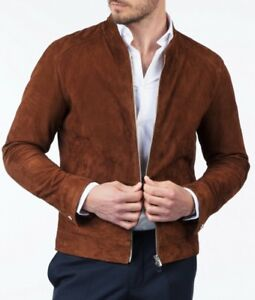 Classic Men's Stylish look 100%Suede Leather Jacket