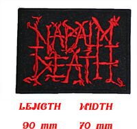 NAPALM DEATH Music Metal Rock Black Death Heavy Patch Sew Iron On Embroidered