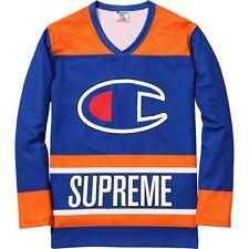 SUPREME x Champion Hockey Top Royal M Box Logo camp cap kate moss S/S 14