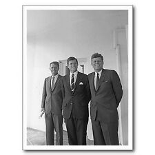 "*Postcard-""The Kennedys (JFK*Bobby*Ted) @ The White House""-Aug. 28, 1963 (C16)"
