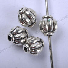 NP117 Wholesale 30pcs Tibetan Silver Lantern-Shaped Spacer Charms Beads 8MM