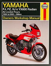 Haynes Manual 2100 for Yamaha FJ600, FZ600, XJ600, YX600 Radian (service/repair)