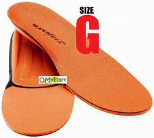 Superfeet ORANGE Insoles Inserts Orthotic Arch Support MEN Shoe Size 13.5 -15 #G