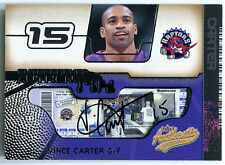 2001-02 Fleer Authentix VINCE CARTER Auto UNRIPPED Extremely Rare SP #/25