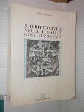 IL DIRITTO CIVILE NELLA LEGALITA COSTITUZIONALE Pietro Perlingieri 1991 libro di