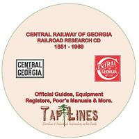 CENTRAL OF GEORGIA - OFFICIAL GUIDES, EQUIPMENT REGISTERS & RESEARCH ON DVD ROM