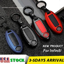 ABS Carbon Keychains Car Key FOB Cover Case For Infiniti accessories For Nissan