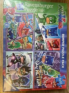 PJ MASKS 4 JIGSAW PUZZLE SET RAVENSBURGER Children's Kids gift 4 x 42 piece New